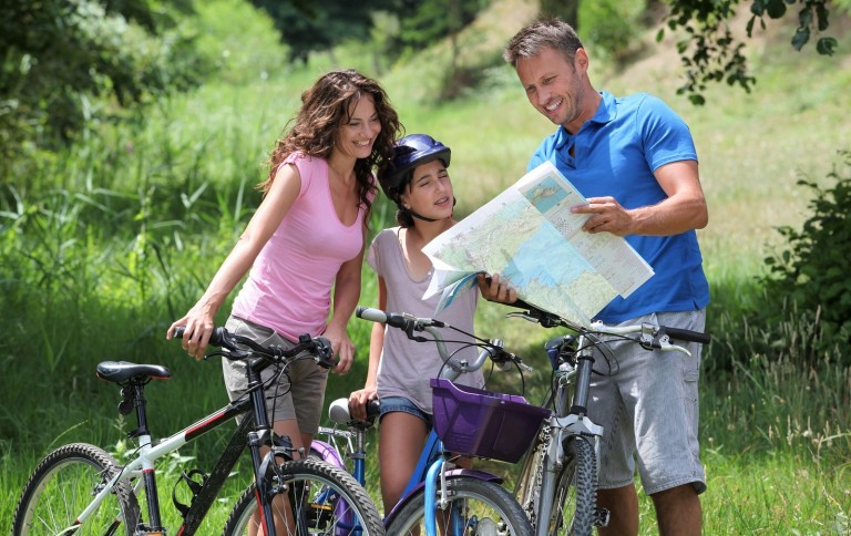 bigstock-Family-on-a-bicycle-ride-16990154